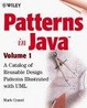 Cover of Patterns in Java, Volume 1, A Catalog of Reusable Design Patterns Illustrated with UML