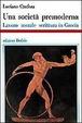 Cover of Una società premoderna
