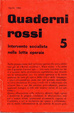 Cover of Quaderni rossi 5