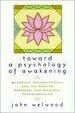 Cover of Toward a Psychology of Awakening