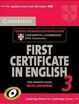 Cover of Cambridge First Certificate in English 3