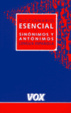 Cover of Vox Diccionario Esencial De Sinónimos y Antónimos