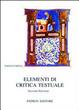 Cover of Elementi di critica testuale