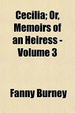 Cover of Cecilia; Or, Memoirs of an Heiress -
