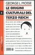 Cover of Le origini culturali del Terzo Reich