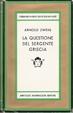 Cover of La questione del sergente Griscia
