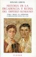 Cover of Historia de la decadencia y ruina del Imperio romano. Tomo I