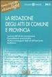 Cover of La redazione degli atti di comune e provincia