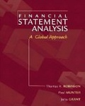 Financial statement analysis:a global perspective