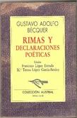 Cover of Rimas y declaraciones poéticas