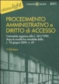Cover of Procedimento amministrativo e diritto di accesso