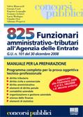 825 Funzionari amministrativo-tributari all'Agenzia delle Entrate