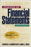 Analysis of financial statements:Leopold A. Bernstein- John J. Wild