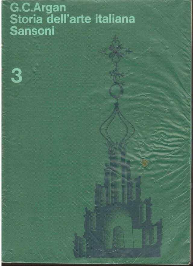 Storia dell 39 arte italiana vol 3 giulio carlo argan for Adorno storia dell arte